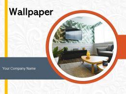 Wallpaper Textured Design Sunflower Interior Geometric Decoration