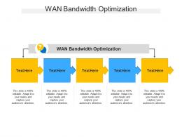 WAN Bandwidth Optimization Ppt Powerpoint Presentation Infographic Template Graphics Tutorials Cpb