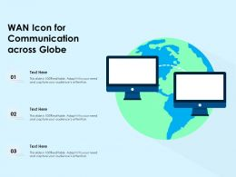 WAN Icon For Communication Across Globe