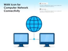 WAN Icon For Computer Network Connectivity