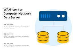 WAN Icon For Computer Network Data Server