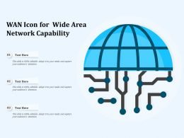 WAN Icon For Wide Area Network Capability