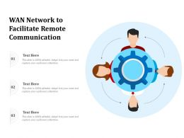 WAN Network To Facilitate Remote Communication