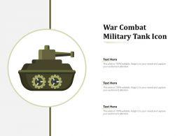 War Combat Military Tank Icon