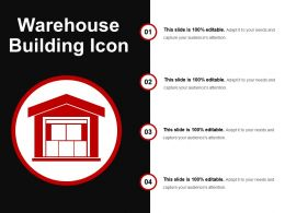 Warehouse Building Icon Ppt Examples Slides