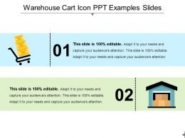 Warehouse Cart Icon Ppt Examples Slides