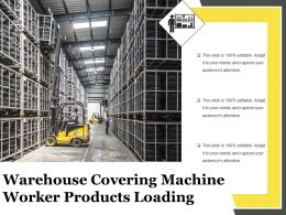 Warehouse Covering Machine Worker Products Loading