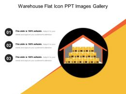 Warehouse Flat Icon Ppt Images Gallery
