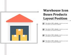 Warehouse Icon Boxes Products Layout Position