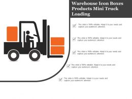 Warehouse Icon Boxes Products Mini Truck Loading