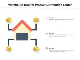 Warehouse Icon For Product Distribution Center