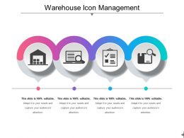 Warehouse Icon Management Ppt Inspiration