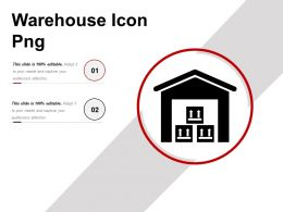 Warehouse Icon Png Ppt Presentation