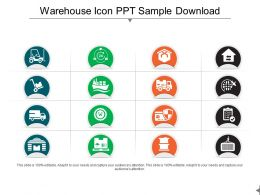 Warehouse Icons Ppt Sample Download