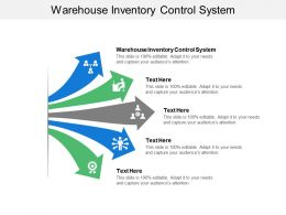 Warehouse Inventory Control System Ppt Powerpoint Presentation Gallery Show Cpb