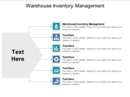 Warehouse Inventory Management Ppt Powerpoint Presentation Gallery Clipart Cpb