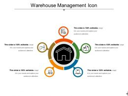 Warehouse Management Icon Ppt Sample File