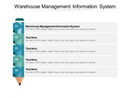 Warehouse Management Information System Ppt Powerpoint Presentation Portfolio Mockup Cpb