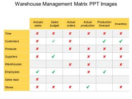 Warehouse Management Matrix Ppt Images