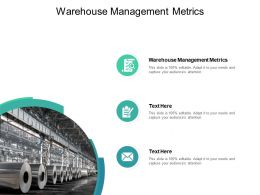 Warehouse Management Metrics Ppt Powerpoint Presentation Outline File Formats Cpb