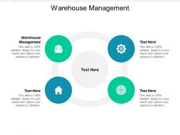 Warehouse Management Ppt Powerpoint Presentation Infographics Demonstration Cpb