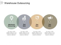 Warehouse Outsourcing Ppt Powerpoint Presentation Gallery Diagrams Cpb
