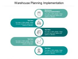 Warehouse Planning Implementation Ppt Powerpoint Presentation Ideas Background Image Cpb