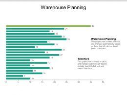 Warehouse Planning Ppt Powerpoint Presentation Gallery Slide Cpb
