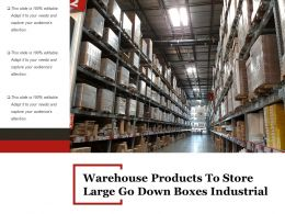 Warehouse Products To Store Large Go Down Boxes Industrial