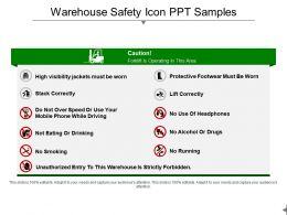 Warehouse Safety Icon Ppt Samples
