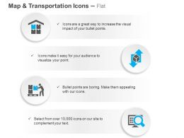 Warehouse Shipping Lifting Search Location Ppt Icons Graphics