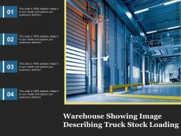 Warehouse Showing Image Describing Truck Stock Loading