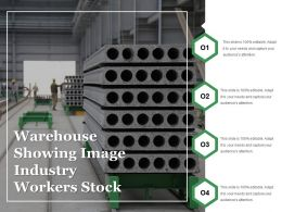 Warehouse Showing Image Industry Workers Stock