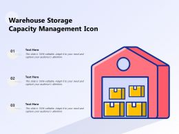 Warehouse Storage Capacity Management Icon