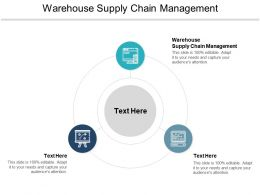 Warehouse Supply Chain Management Ppt Powerpoint Presentation File Example File Cpb