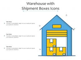 Warehouse With Shipment Boxes Icons