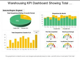 Warehousing Kpi Dashboard Showing Total Dispatches