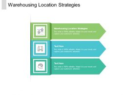 Warehousing Location Strategies Ppt Powerpoint Presentation Infographic Template Examples Cpb
