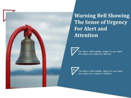 Warning Bell Showing The Sense Of Urgency For Alert And Attention