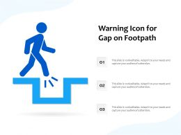 Warning Icon For Gap On Footpath