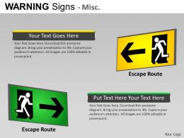 Warning Sign Misc Powerpoint Presentation Slides DB
