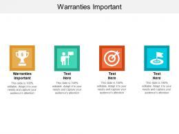 Warranties Important Ppt Powerpoint Presentation Icon Ideas Cpb
