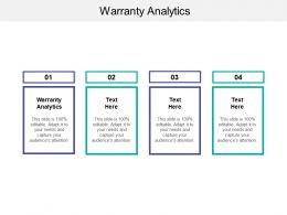 Warranty Analytics Ppt Powerpoint Presentation Icon Inspiration Cpb