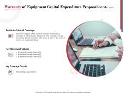 Warranty Of Equipment Capital Expenditure Proposal Cont Ppt Powerpoint Presentation Infographics Model