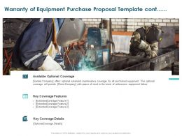 Warranty Of Equipment Purchase Proposal Template Cont Ppt Powerpoint Ideas