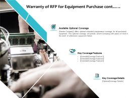 Warranty Of RFP For Equipment Purchase Cont Ppt Powerpoint Presentation Styles Example File