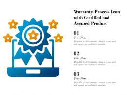 Warranty Process Icon With Certified And Assured Product