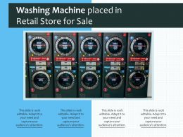 Washing Machine Placed In Retail Store For Sale
