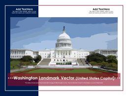 Washington Landmark Vector United States Capitol Powerpoint Template