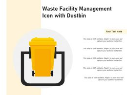 Waste Facility Management Icon With Dustbin